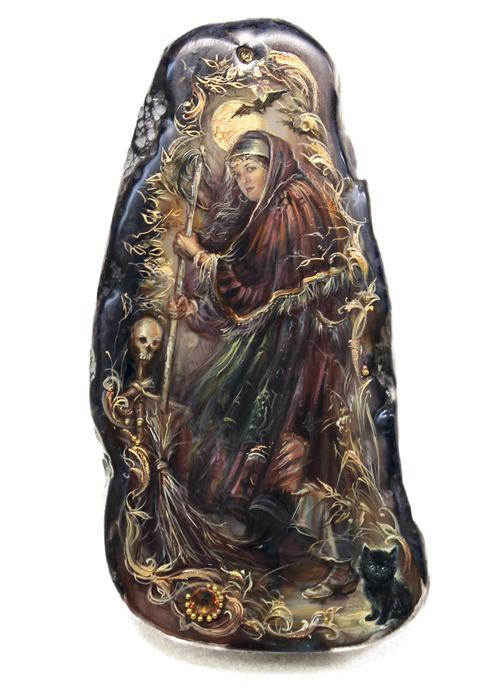 Баба-Яга на камне