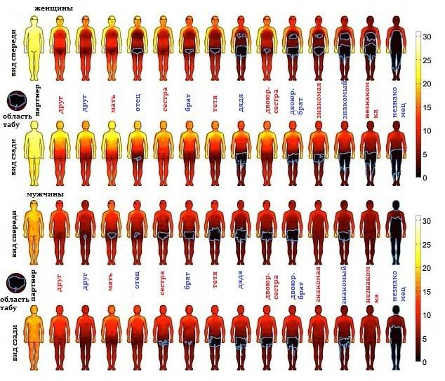 Карта доступности частей тела