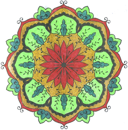 Мандалотерапия: Блаженство, рисуем Квадратуру круга