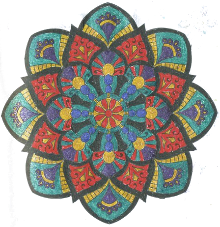 Мандалотерапия: Кристаллизация, рисуем Ворота смерти